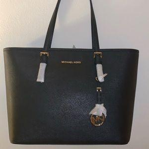 Michael Kors Jet Set Travel Black Saffiano Leather